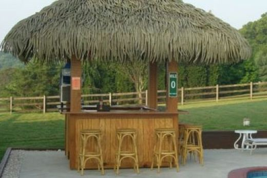 Backyard Tiki Bar Plans : diy outdoor tiki bar  Google Search