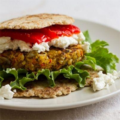 Curry Spiced Lentil Rice Veggie Burger | Arl's recipe's | Pinterest