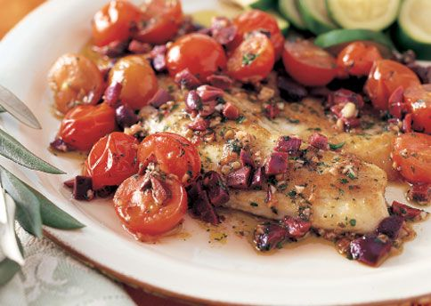 Spicy Sauteed Fish with Olives and Cerry Tomatoes - Bon Appétit