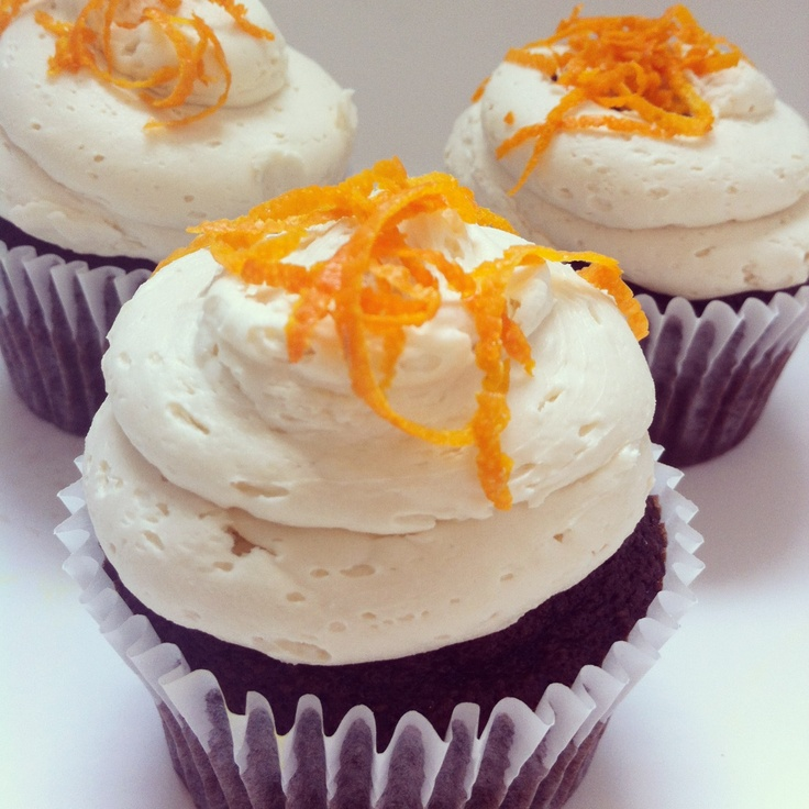 Dark chocolate orange cupcake | Cupcakes | Pinterest