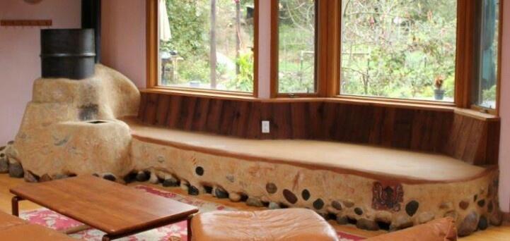 rocket mass heater in cob bench cob homes pinterest