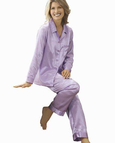 Blue Womens Satin Pajamas