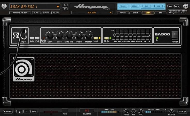 Увеличить. IK Multimedia Ampeg SVX v1.1.3 VST/AU/RTAS/MAC/OSX/U