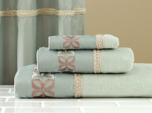 $14.00 Petals Seafoam Green 3Pc Bathroom Towel Set By Collections Etc  From Mallory Lane   Get it here: http://astore.amazon.com/ffiilliipp-20/detail/B005EGZZS2/175-9986959-9657214