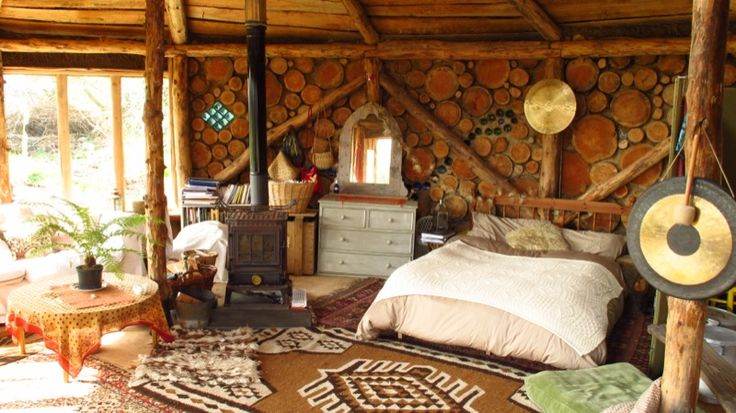 Hobbit House Log Interior Hobbit House Ideas Pinterest