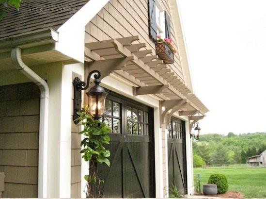 Pergola over garage doors   Exterior design   Pinterest