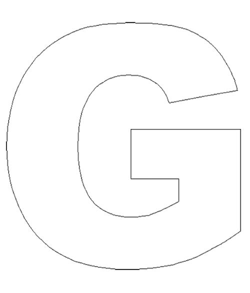 Free Coloring Pages Of Capital Letter G