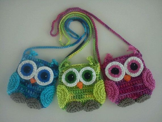 Cute crochet owl bag by lamardecoses on Etsy