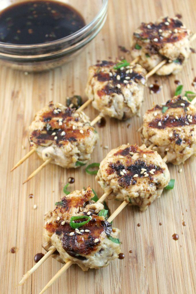Tsukune (Japanese Chicken Meatballs) | japanese & sushi | Pinterest