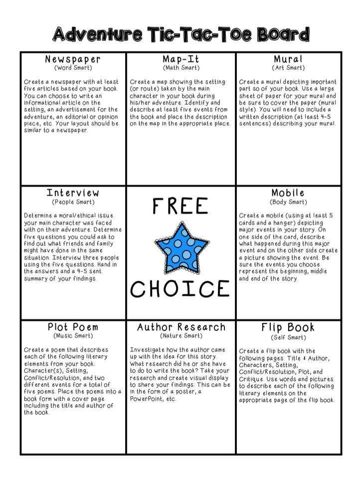Tic tac toe book report project homework writing service tic tac toe book report project pronofoot35fo Choice Image
