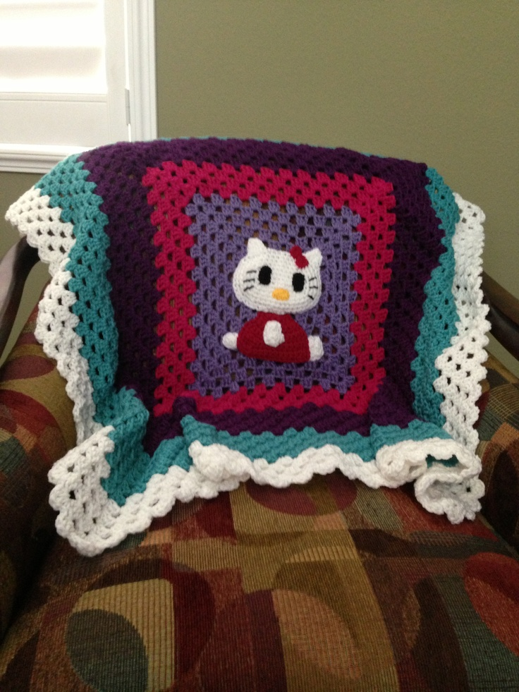 Crochet Pattern For Hello Kitty Baby Blanket : Pin by Ana Perez on Crochet Pinterest