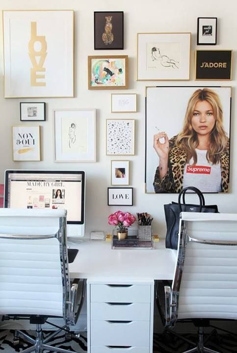 Office space 15 chic home offices for Home office design inspiration