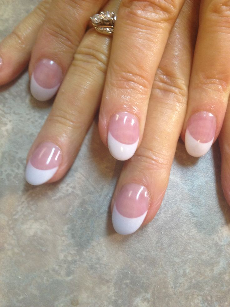 French almond nails nice french almond nails