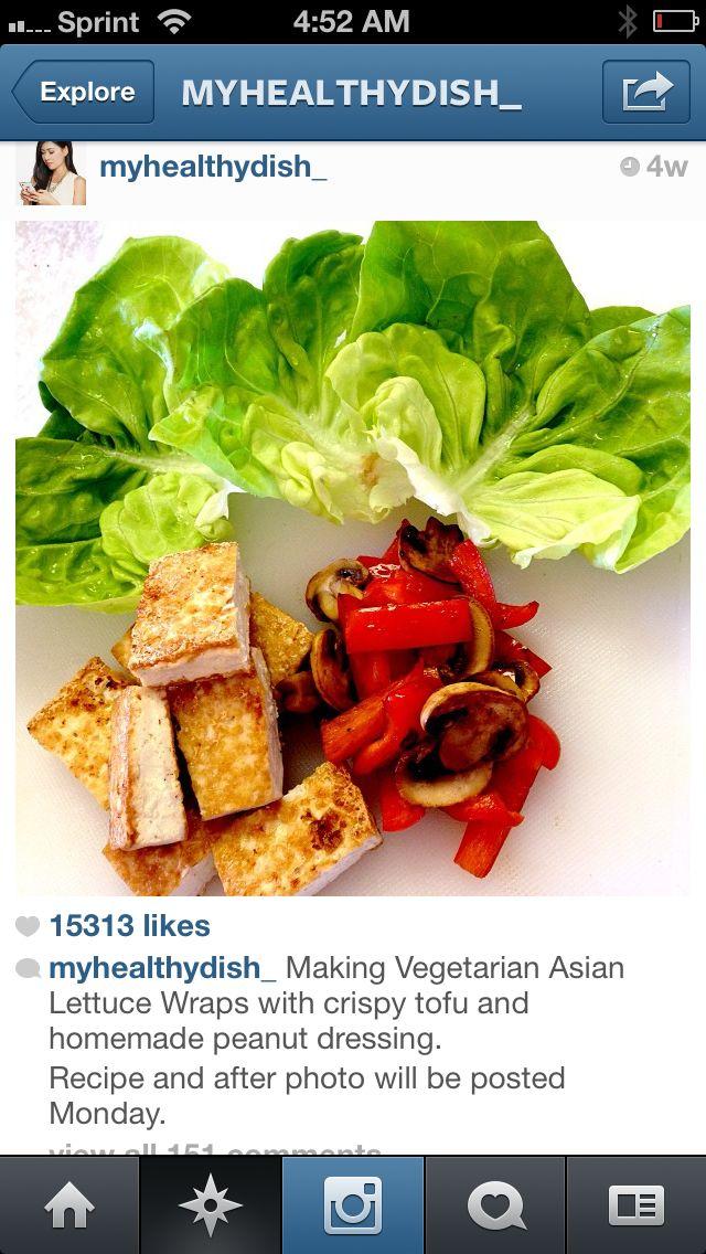 Vegetarian lettuce wraps   Eats   Pinterest