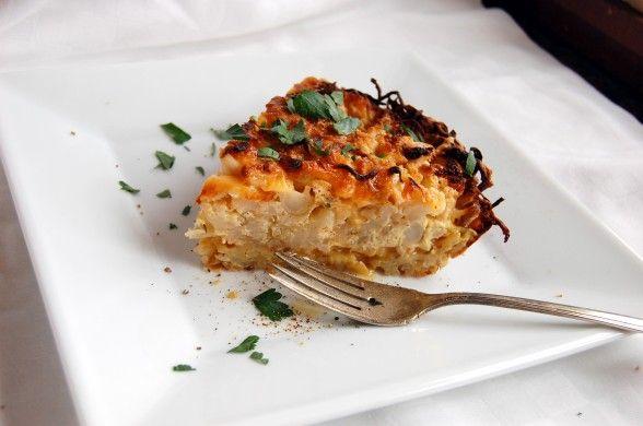 Cauliflower-Cheese Pie with Potato Crust | Vegetarian Main Dishes | P ...