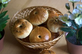 bagels- tried them. pretty tasty. Try a malt syrup/ molasses boil next ...