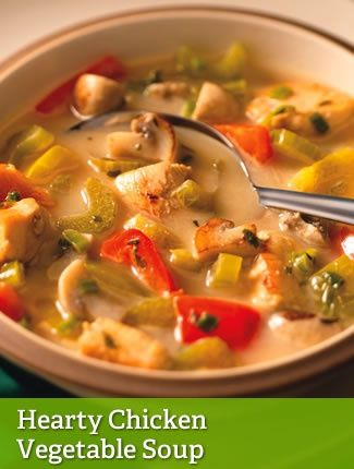 Hearty Chicken Vegetable Soup {leaner} http://www.youfit.tsfl.com http ...