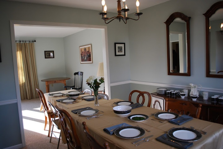 Dining Room With Chair Rail Paint Idea For The Home Pinterest