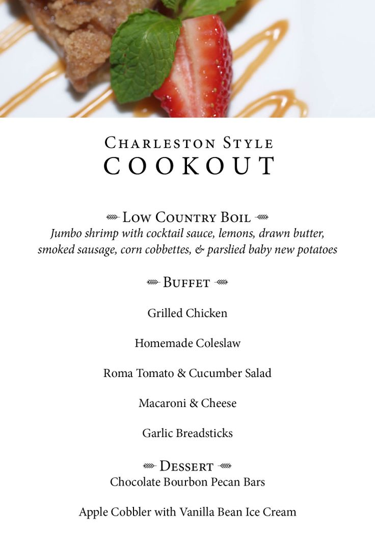 Charleston style cookout menu grilling and chilling pinterest