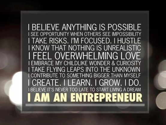 If this describes you, you too are an entrepreneur. Do you recognise yourself? Are you?