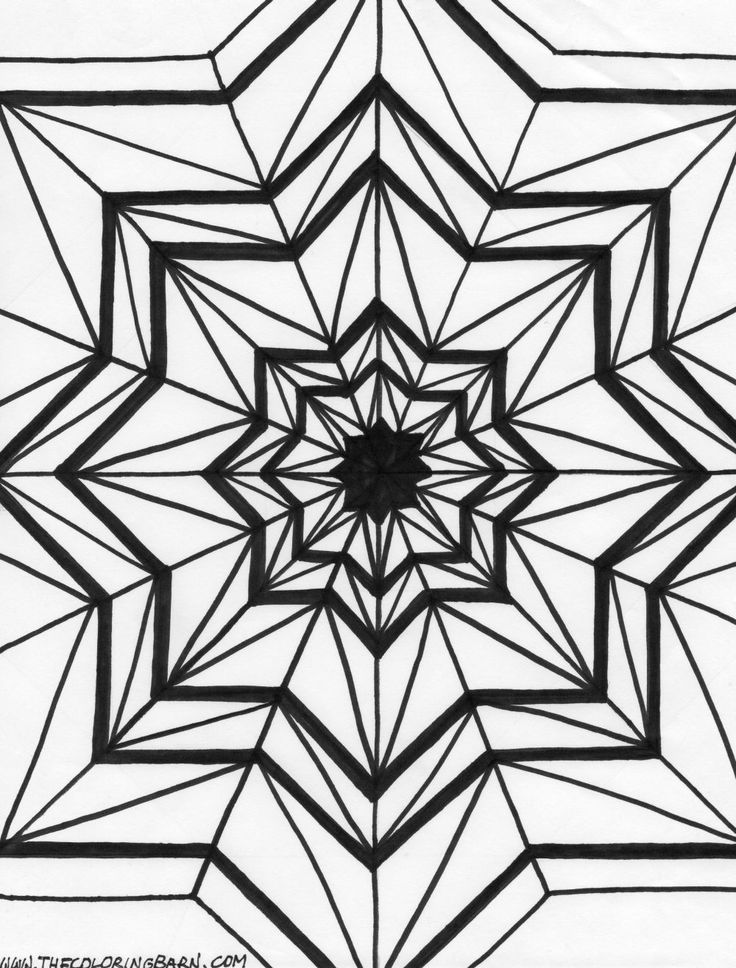 kaleidoscope designs free coloring pages - photo#25