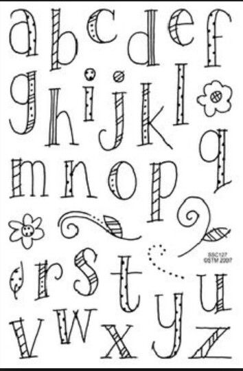 Doodle letters polly woddle all day pinterest