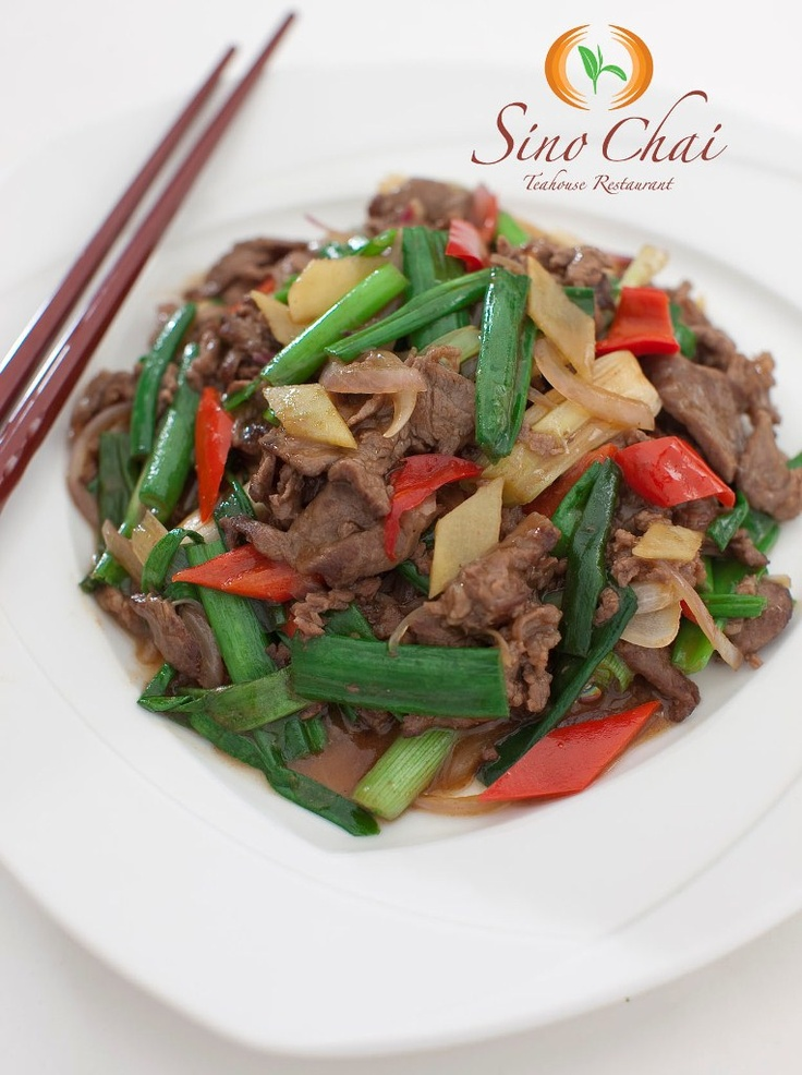 Ginger & Spring Onion with Beef | Sino Chai Chicken & Beef | Pinterest