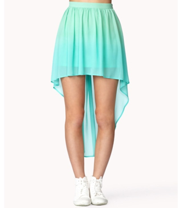 forever 21 ombr 233 high low skirt fashion