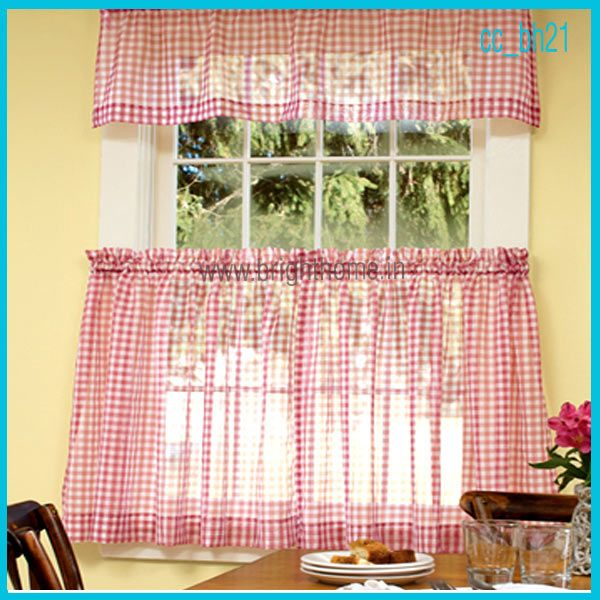 yellow room with red check curtains color pinterest
