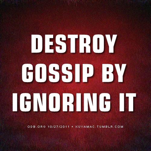 Image result for Stop Gossip