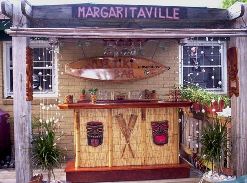 tiki bar backyard backyard ideas design pinterest