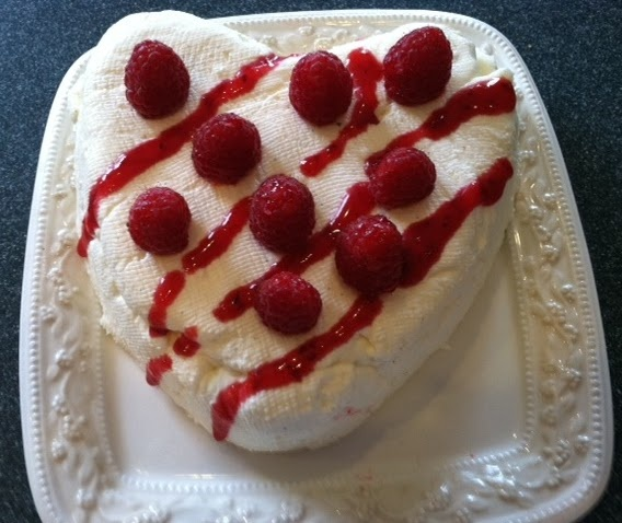 Coeur a la Creme with Raspberry Sauce, Raspberry and Grand Marnier ...