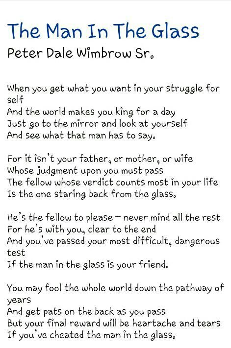 u0026quot;The Man In The Glassu0026quot; : Things for My Wall : Pinterest