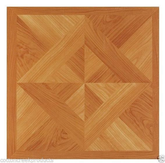 Oak Diamond Parquet Self Adhesive Vinyl Floor Tile Wood Flooring 12x12