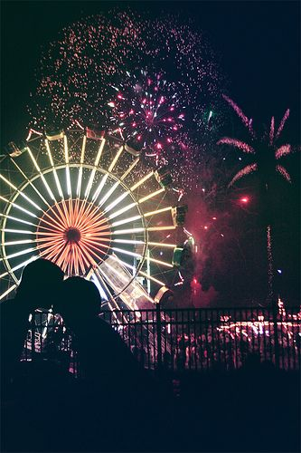 604.) A kiss while fireworks are going off? Don't mind if i do...