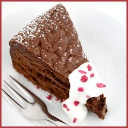 Flourless Chocolate Truffle Torte Recipe by Jamie Schler #recipe # ...