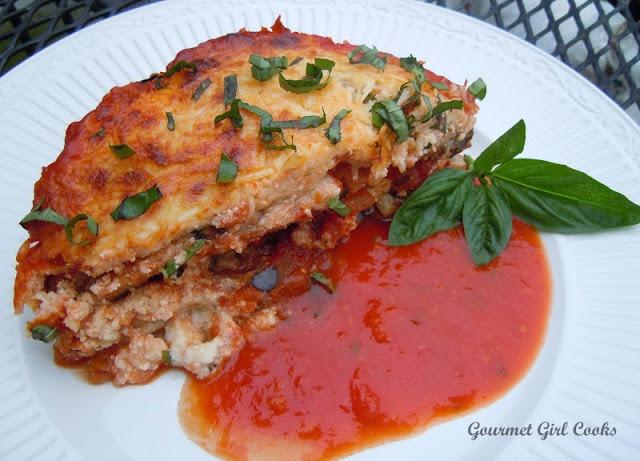 Gourmet Girl Cooks: Wednesdays Eggplant Ricotta Bake