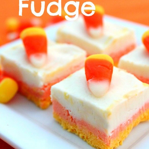 Easy Candy Corn Fudge | Fall | Pinterest