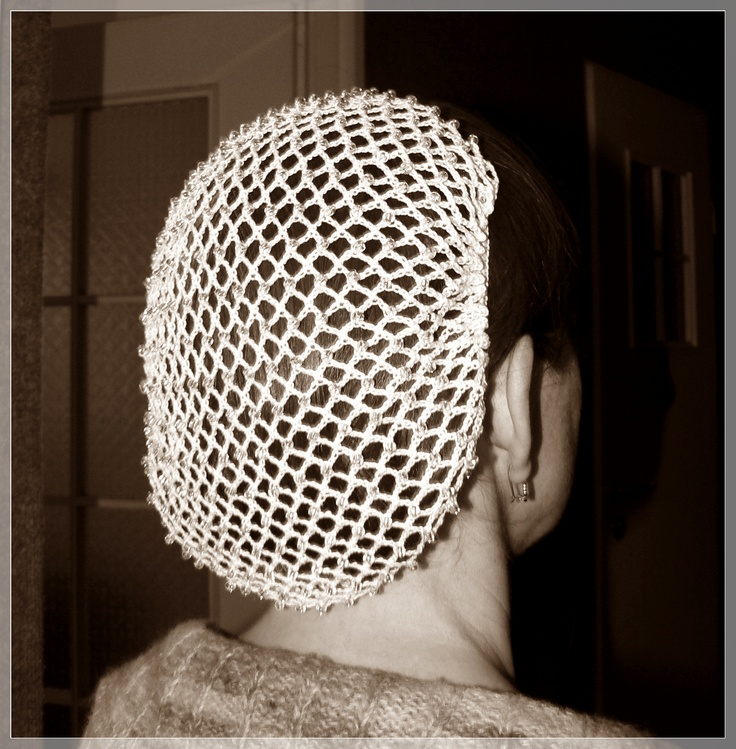 Crochet Hair Net : Wedding crochet hair net. Crochet jewelry and hair accessories / Sz ...