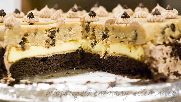 Chocolate CHip cookie dough cheesecake   Nomnom   Pinterest