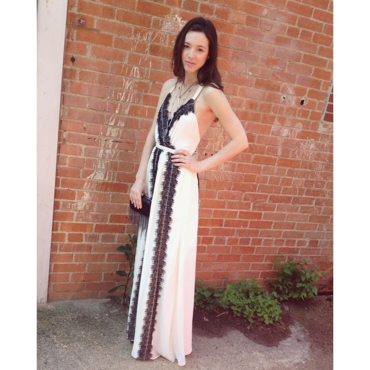 black and white evening maxi dresses
