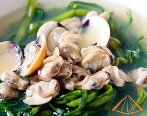 Vietnamese spinach soup with basil clams | Tasty Asian - Vietnamese ...