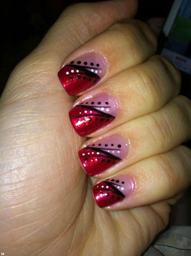 valentines nail art 2014