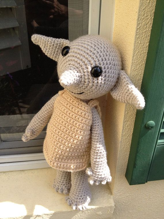 Dobby Harry Potter Amigurumi : Handmade Dobby the House Elf doll - amigurumi crochet ...