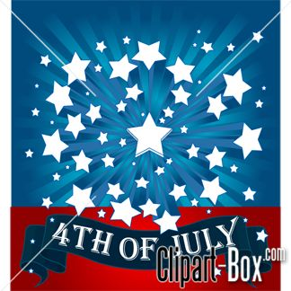 july 4th banner clipart