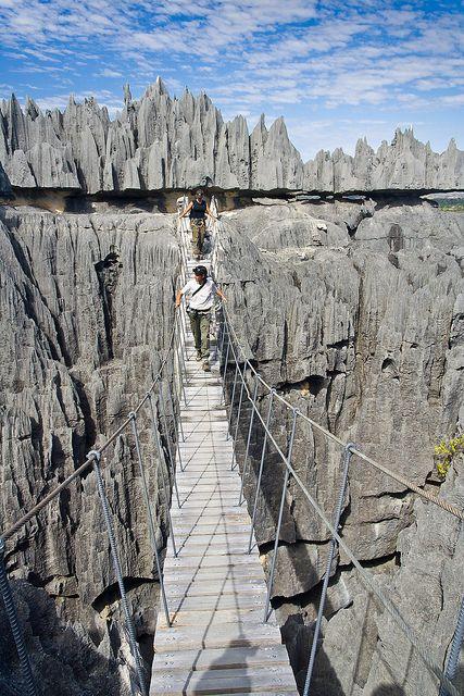 Tsingy de Bemaraha, a geological wonder in northern Madagascar (by Pierre-Yves Babelon).