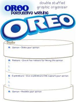 Persuasive OREO Writing* Poster/Graphic Organizer/Prompts