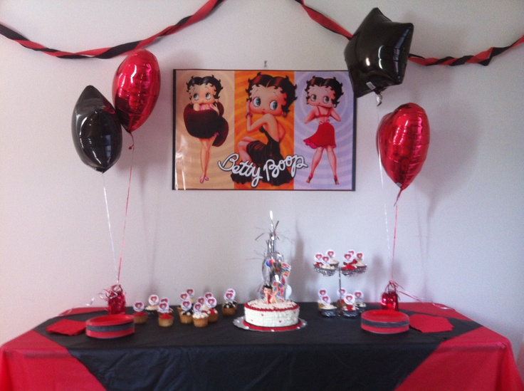 betty boop decoration party ideas pinterest