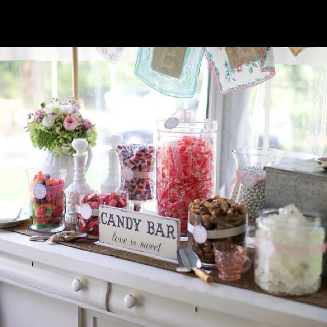 Candy Bar Sign Party Ideas Pinterest