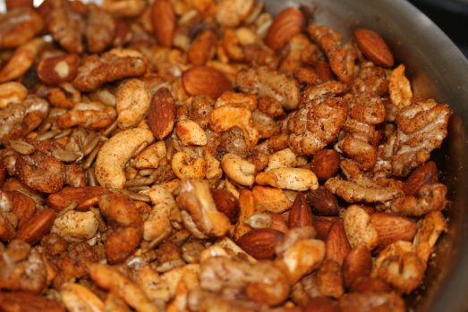 Savory Spiced Nuts - garlic, onion, chili powder, paprika